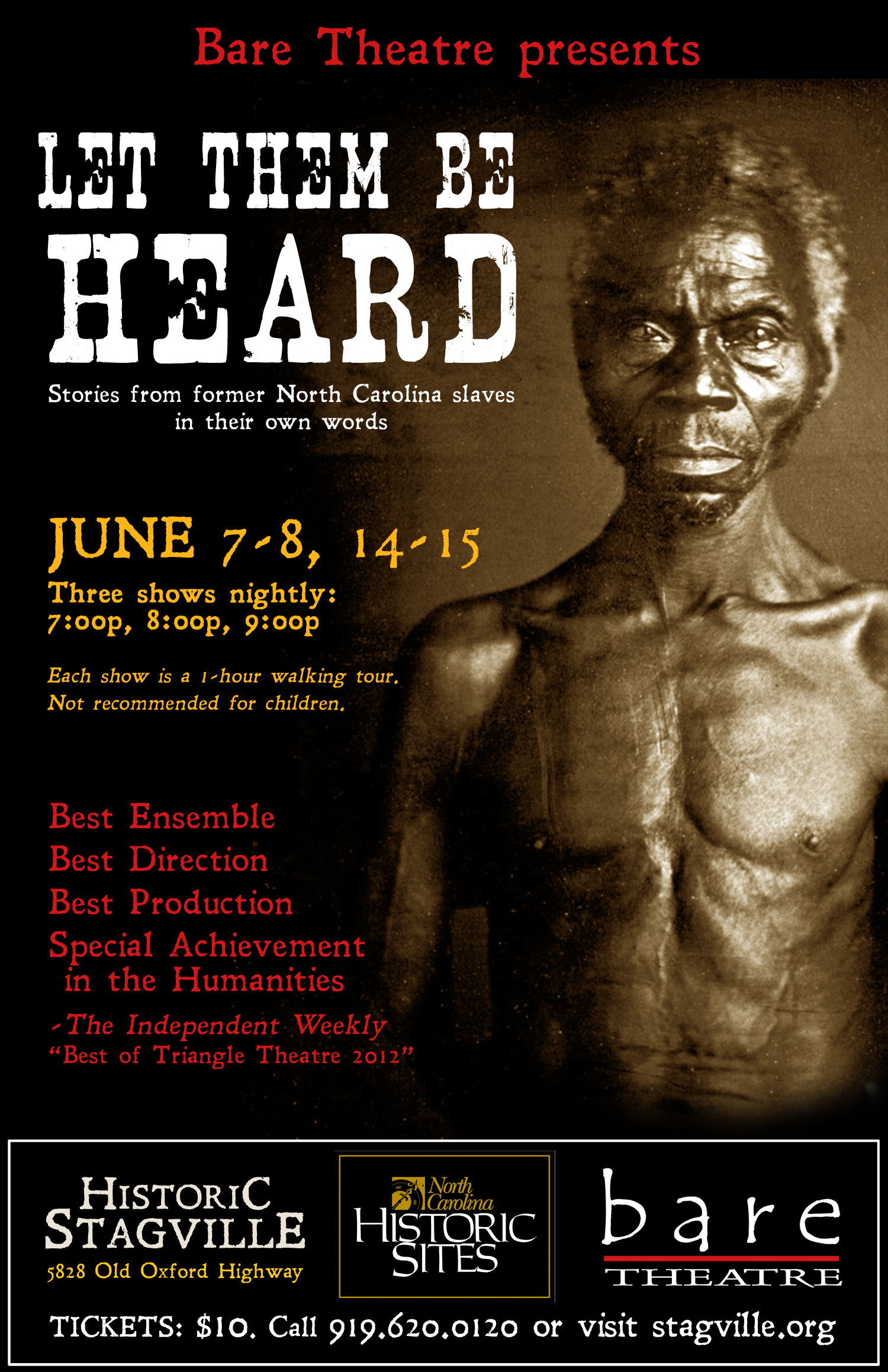 let them be heard bare theatre let them be heard 2013 poster preview