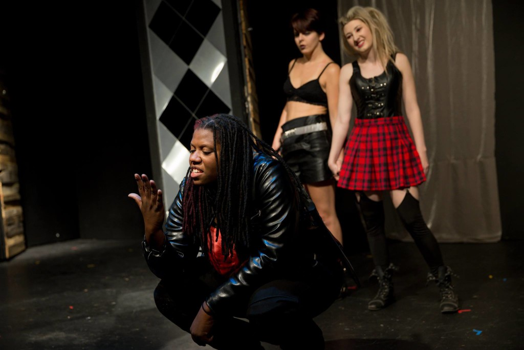 "Aneisha Montague, Hannah Murphy, and Katie Barrett in ""Titus Andronicus"""